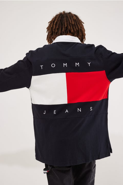 Tommy Jeans TJ US Tmal Rugby Polo Desert Sky