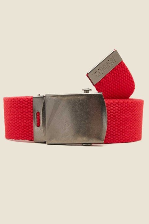 Common Need Skater Web Belt Red