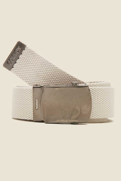 Common Need Skater Web Belt Ecru