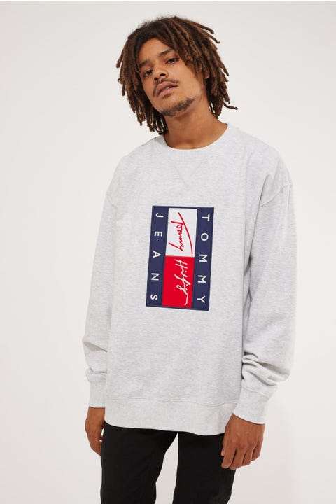 Tommy Jeans TJ US Tmall Crew Silver Grey Heather
