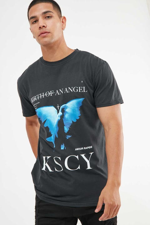 KISS CHACEY Angel Days Relaxed Tee Heavy Metal Black