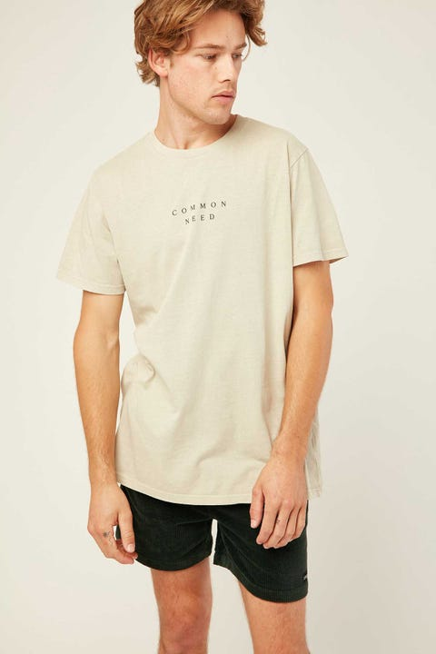 COMMON NEED Advance Tee Sage Green