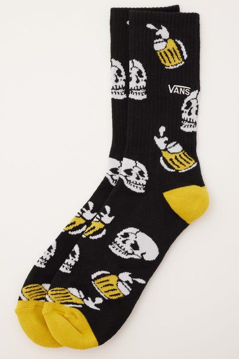 Vans Beer Skull Crew Sock Black