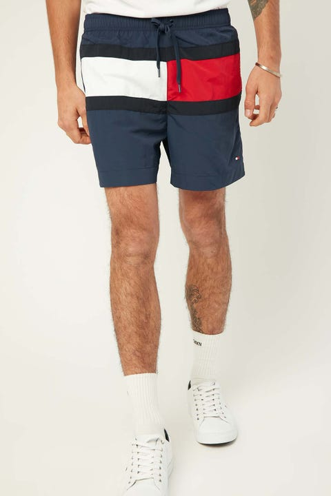 TOMMY JEANS Core Flag Swim Short Pitch Blue