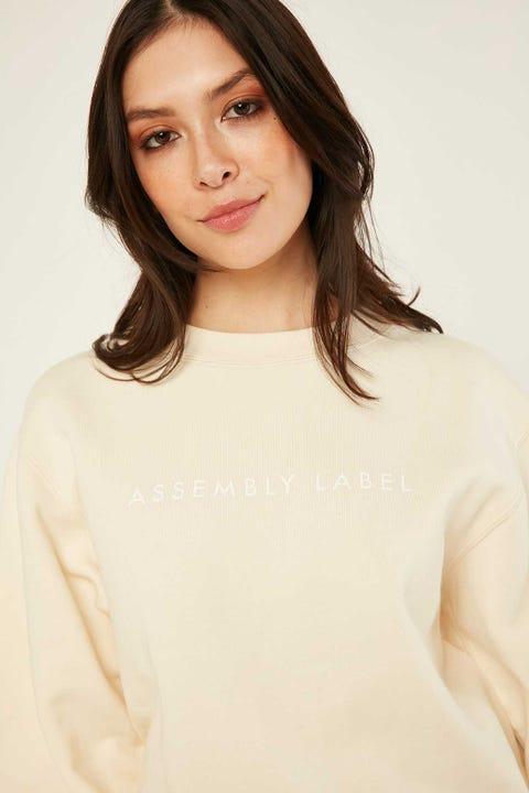 ASSEMBLY Logo Fleece Natural/White