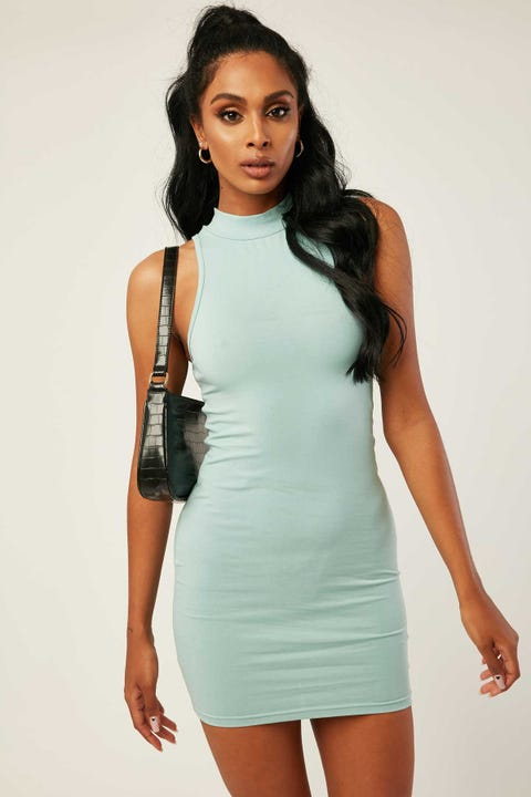 L&t Nina Mini Dress Dusty Blue