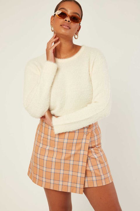 ALL ABOUT EVE Morgan Knit Sand