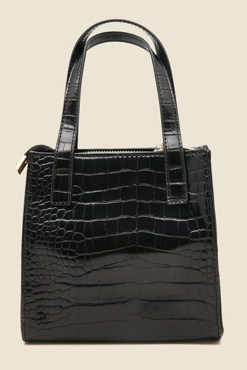TOKEN Kylie Croc Handbag Black