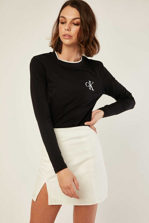 Calvin Klein CK Embro Long Sleeve Tee Black