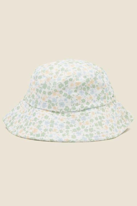 PERFECT STRANGER Valencia Bucket Hat White Floral