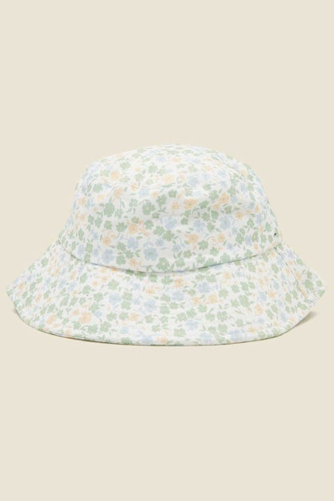 PERFECT STRANGER Valencia Bucket Hat White Floral