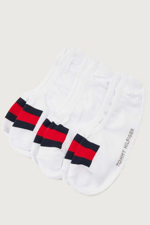Tommy Jeans Flag No Show Sock 3pk White