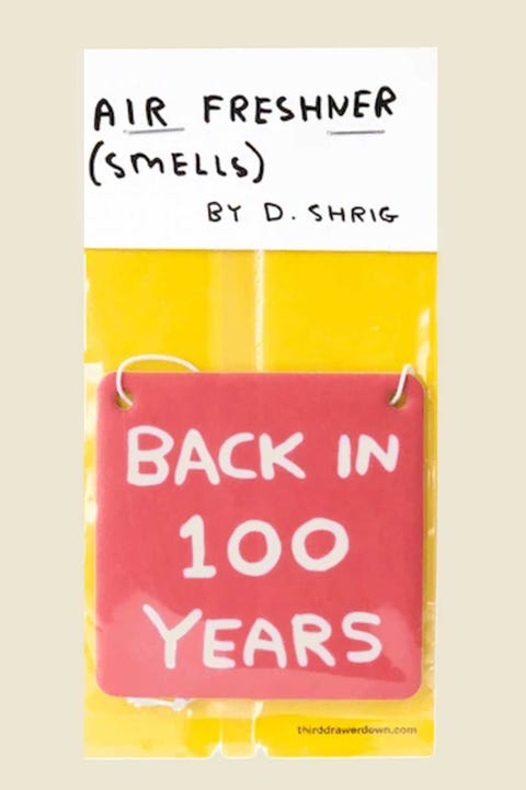 Third Drawer Down David Shrigley Back In 100 Years Air Freshener