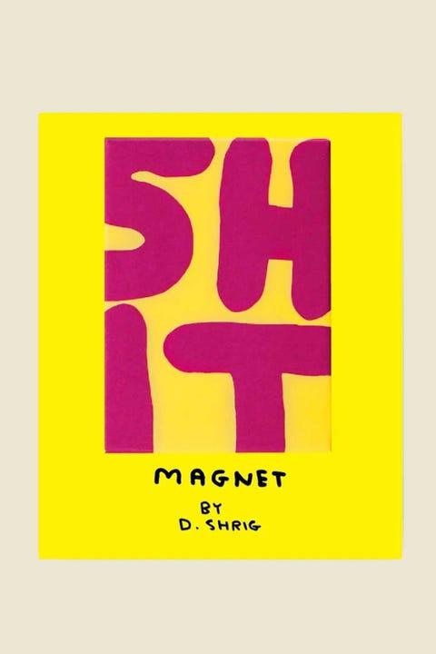 Third Drawer Down David Shrigley Shit Magnet