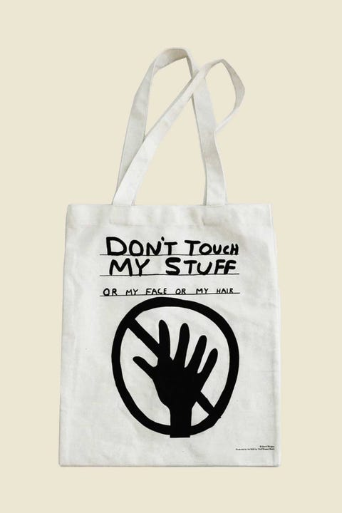 Third Drawer Down David Shrigley Don't Touch My Stuff Tote