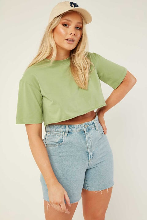 L&T Cropped T-Shirt Green