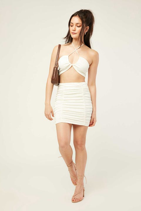 LUCK & TROUBLE My Type Mini Skirt White
