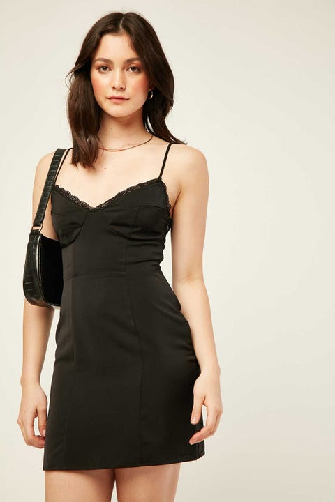 LUCK & TROUBLE Bare With Me Dress Black