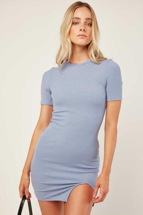 LUCK & TROUBLE Delta Mini Dress Blue Violet