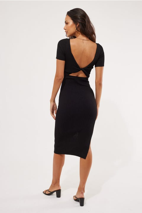 Perfect Stranger Leni Two-Way Midi Dress Black