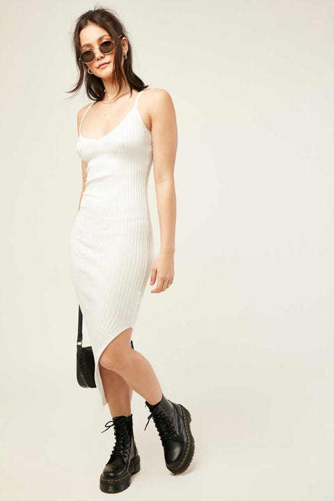 PERFECT STRANGER Phoenix Midi Dress White