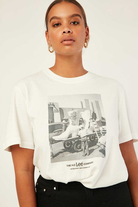 LEE Relaxed Tee White