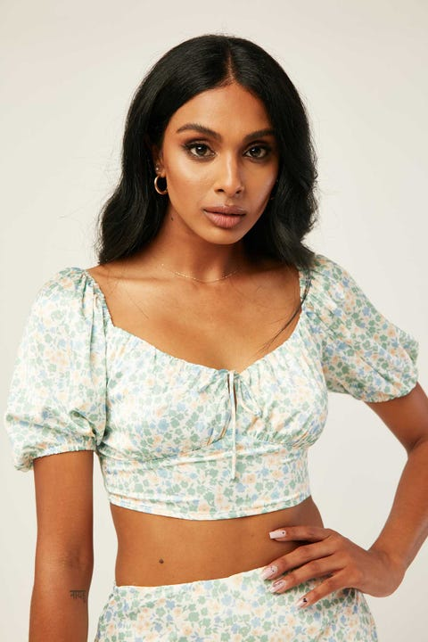 PERFECT STRANGER Valencia Top White Floral