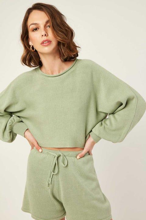 LUCK & TROUBLE Mardi Knit Jumper Green
