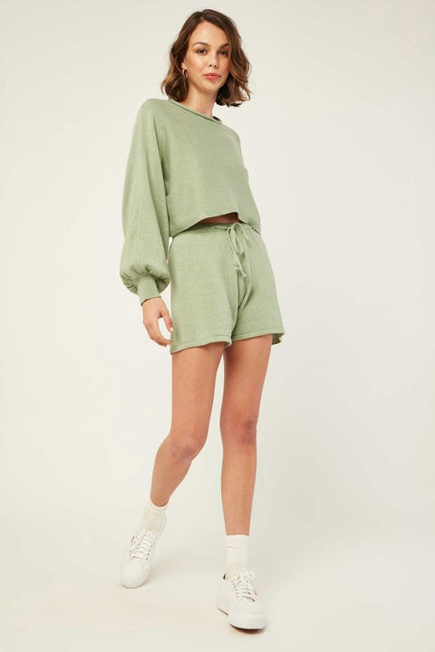 Luck & Trouble Mardi Knit Short Green