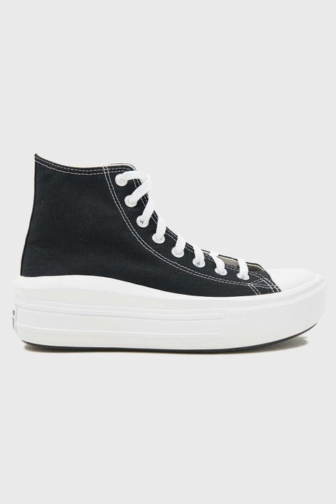 CONVERSE Womens CTAS Move Platform Black/Natural Ivory/White