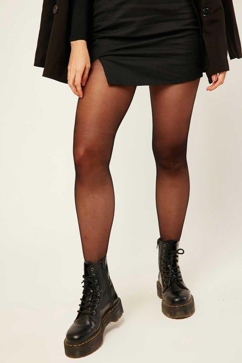 TOKEN Opaque Stockings Black