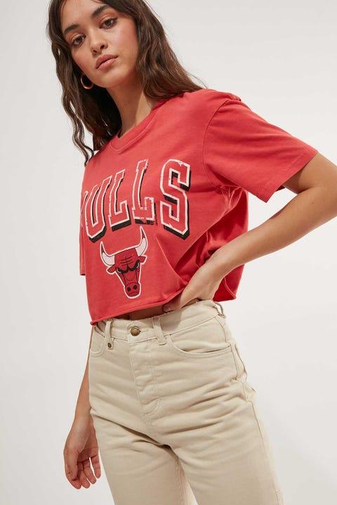 Mitchell & Ness Bulls Vintage Arch Crop Red
