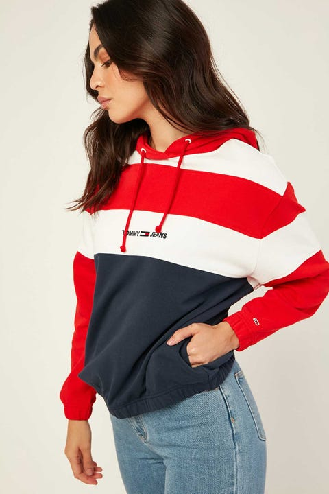 TOMMY JEANS Retro Coloblock Hoodie Twilight Navy/Multi