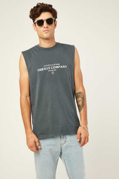 THRILLS Never Broken Merch Fit Muscle Washed Navy