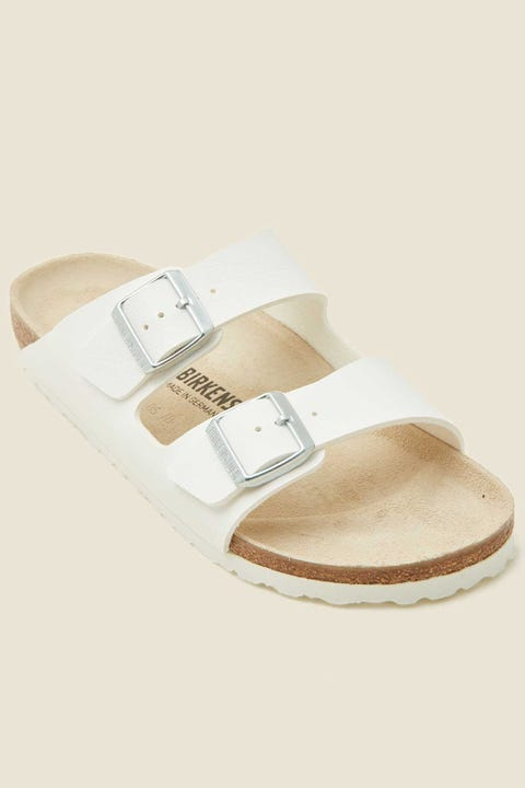 BIRKENSTOCK Womens Arizona Birko-Flor Narrow White