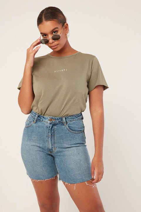 THRILLS Minimal Thrills Loose Fit Tee Army Green