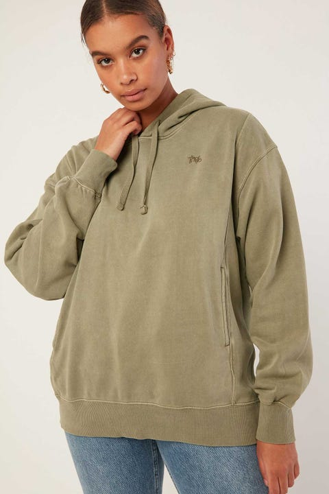 THRILLS Hot Lips Hoodie Army Green
