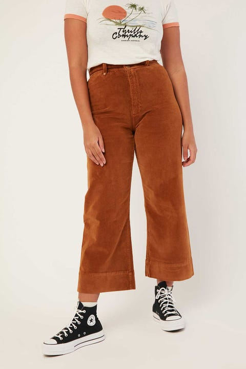THRILLS Sueded Belle Pant Mustang Brown