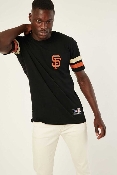 Majestic Athletic Team Stripe Sleeve Tee Black