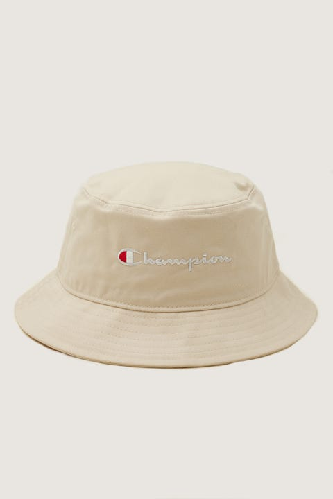 Champion Twill Script Bucket Hat Pebblestone