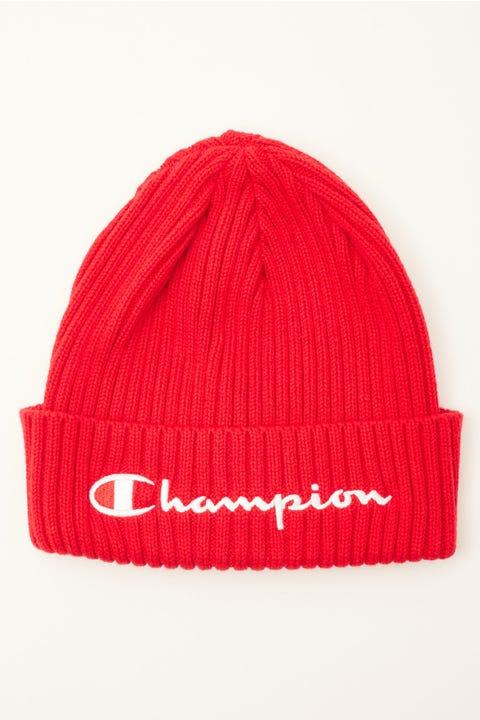 Champion Rib Beanie Red