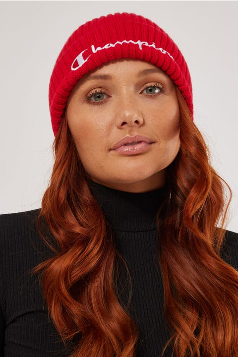 Champion Rib Beanie Red