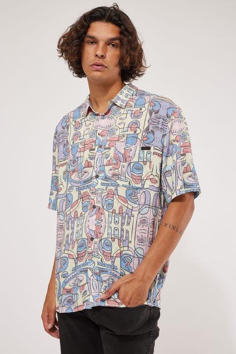 Wrangler Tropic Visions SS Shirt Faded Lemon