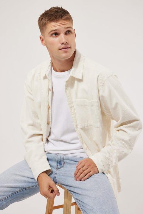 Common Need Kirk Cord Overshirt White