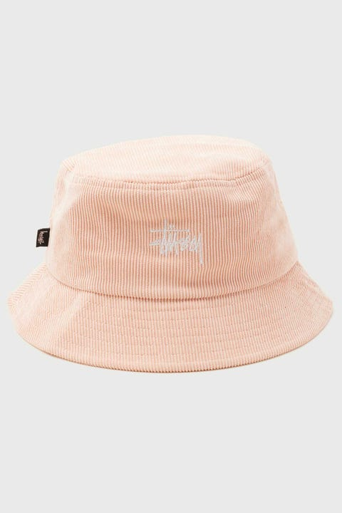 Stussy Graffiti Cord Bucket Hat Peach