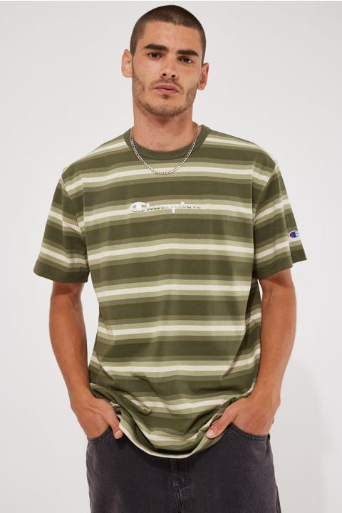 Champion Yarn Dye Stripe Heritage Tee