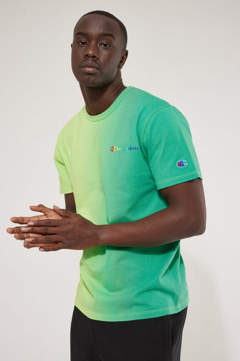 Champion Pride Reverse Weave Heritage Tee Kelly Green Ombre