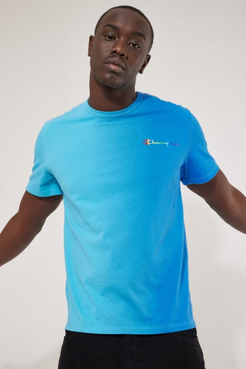 Champion Pride Reverse Weave Heritage Tee Surf The Web Ombre