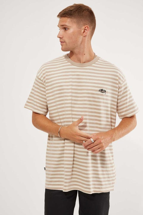 Stussy Designs YD SS Tee Taupe/Warmed White