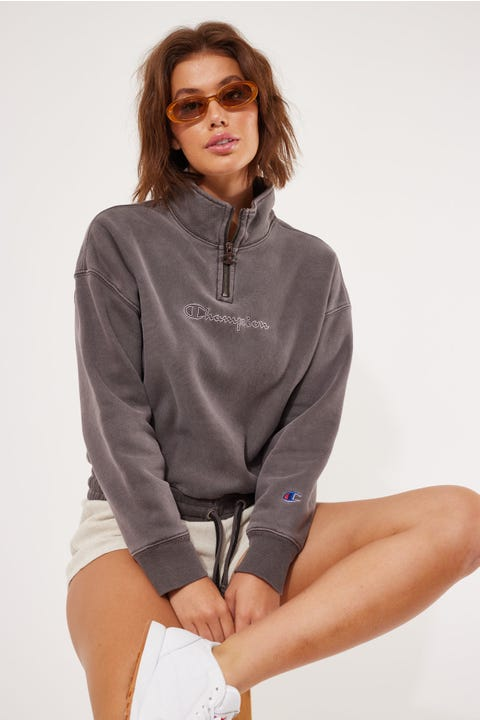 Champion Reverse Weave Dye Quarter Zip Lady Brunette